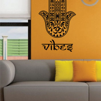 Hamsa Hand Vibes Version 8 Design Decal Sticker Wall Vinyl Decor Art