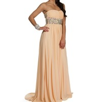 Pre-Order: Penelope Apricot Prom Dress