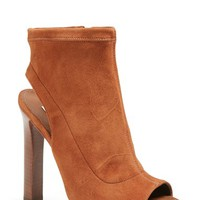 Women's Diane von Furstenberg 'Armara' Peep Toe Stretch Leather Bootie