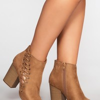 Brynn Booties - Taupe