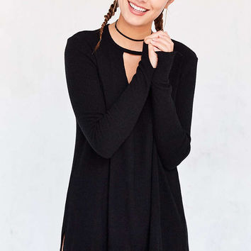 Project Social T Irresistible Long-Sleeve Cutout V-Neck Tee - Urban Outfitters