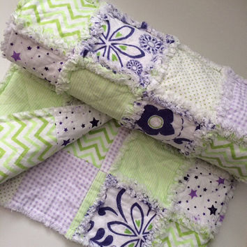 Shop Purple And Green Baby Quilt on Wanelo : baby quilted blanket - Adamdwight.com