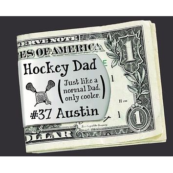 Hockey Dad Personalized Money Clip | Gift for Dad