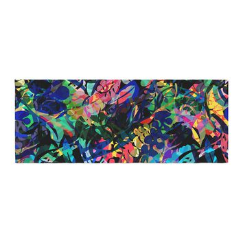 "Gabriela Fuente ""Flora Splash"" Dark Rainbow Bed Runner - Outlet Item"