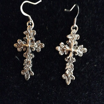 Just Made Christian Cross Catholic Silver Dangling Gift Idea