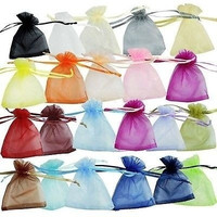 WYH 100pcs Jewelry Candy Pouch Bag Sheer Organza Wedding Party Decoration Gift 7x9cm Pouch = 1945928644