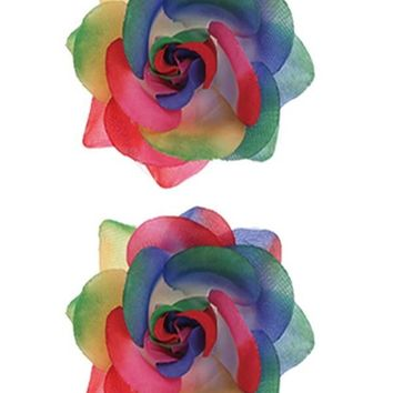 Rainbow Hair Flower set