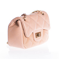 Quaintly Quilted Purse, Natural