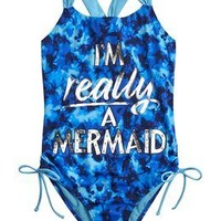 Mermaid One Piece Swimsuit | Girls One-piece Swimwear | Shop Justice