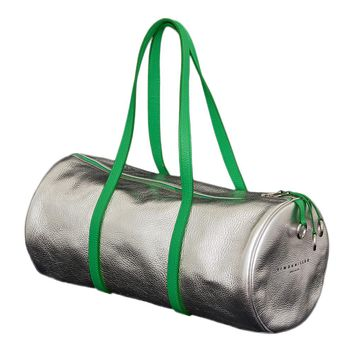 Silver Metallic Duffle Bag by Simon Miller