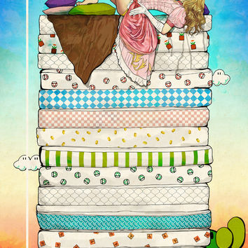 Princess Peach and the Pea Art Print by Keith P. Rein