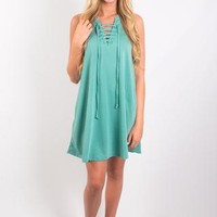Z Supply All Tied Up Dress - Lagoon