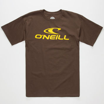 O'neill One Mens T-Shirt Brown  In Sizes