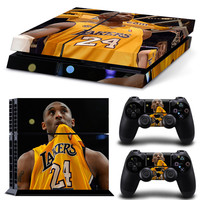 Kobe Bryant Vinyl Decal Skin For playstation 4 Console +2Pcs Stickers For ps4 Controllers
