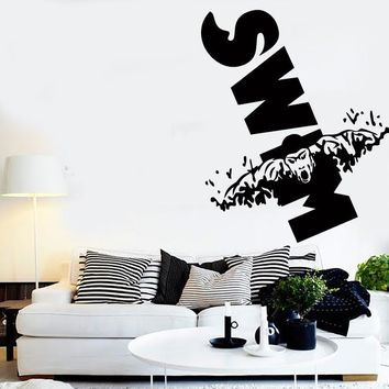 Vinyl Decal Wall Stickers Swim Swimming Water Sport For Living Room (z1663)