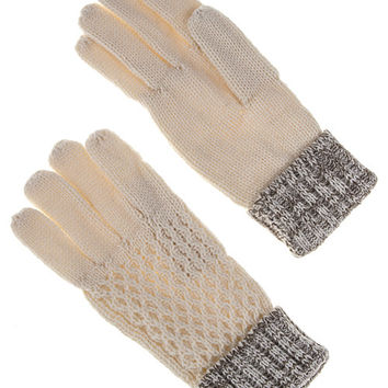 Kitty Two Tone Knit Gloves (2 Colors Available)