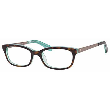 Kate Spade - Jazmine Us 51mm Havana Green Eyeglasses / Demo Lenses