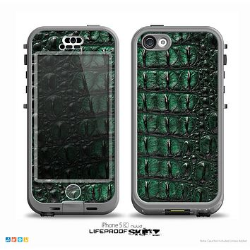 The Vivid Green Crocodile Skin Skin for the iPhone 5c nüüd LifeProof Case