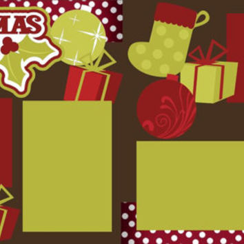 Available for a LIMITED Time - Christmas 2014 2-page 12 X 12 Scrapbook Page Kit