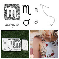 Scorpio - Temporary Tattoo (Set of 14)