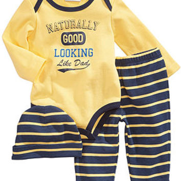 First Impressions Baby Boys' 3-Piece Hat, Bodysuit & Pants Set