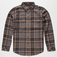 Imperial Motion Parker Mens Flannel Shirt Black  In Sizes