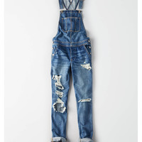 Tomgirl Overall, Destroyed Medium Wash