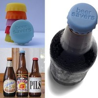 Beer Saver Reusable Silicone Bottle Caps - Set of 6:Amazon:Kitchen & Dining