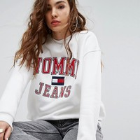 Tommy Jeans 90s Capsule Logo Sweatshirt at asos.com