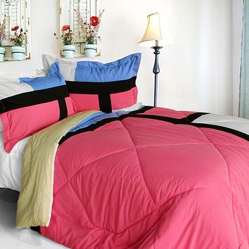 [Remember Mackenzie] Quilted Patchwork Down Alternative Comforter Set (King Size)