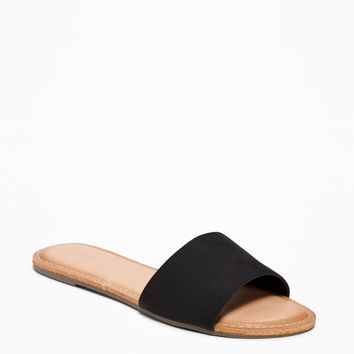 Sueded Slide Sandals for Women |old-navy