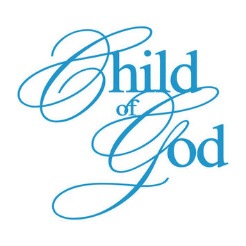 Child of God - Elegant Script Vinyl Wall Decal Quote Lettering Decor - Baby Girl Boy Nursery Toddler Bedroom Wall Art 22H x 24W CQ008