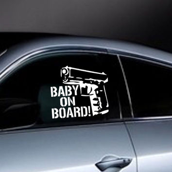 Baby On Board Waterproof Reflective Motorcycle Stickers Decals Bumper Stickers