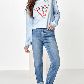 Guess x PacSun Long Sleeve Cropped Sweatshirt at PacSun.com