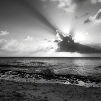 Sunset Photo black & white cloud cross contrast 8x10 by ImagesByCW