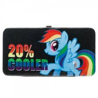 My Little Pony Rainbow Dash 20% Cooler Juniors Black Hinge Wallet - My Little Pony - | TV Store Online