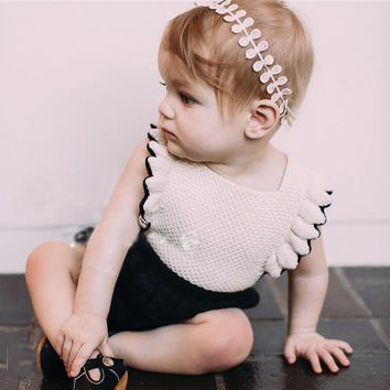 Ins Hot Fashion Infant Toddler Girl Rompers Knitted Ruffles&bow Fashion Kids Princess Baby Overalls Birthday