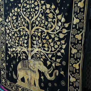 Queen Elephant tapestry Hippie Wall hanging tapestry Drom tapestry Indian bedspread wall hanging