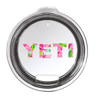Lilly Pulitzer Yeti Lid Decal Yeti Logo for Rambler or Tumbler - Any Color -  30oz - 20oz - Pattern - Lilly Pulitzer Inspired - Preppy
