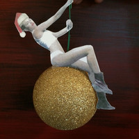 Miley Cyrus wrecking ball Christmas ornament