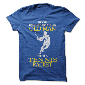 Old Man With A Tennis Racket