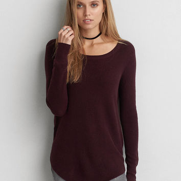 AEO Crew Jegging Sweater, Purple