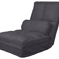 "Epic Furnishings Cosmo Click Clack Convertible Futon Pillow-Top Flip Chair Sleeper Bed, 28"", Slate Grey"