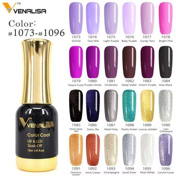 #60751  2018 New Venalisa Nail Paint Gel 12ml 120 colors Gel Polish Nail Gel Soak Off UV Gel Polish Nail Lacquer Varnishes