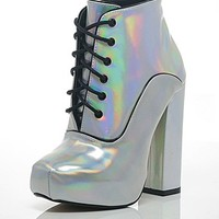 ASOS Fashion Finder | Shellys Hologram High Heeled Boots