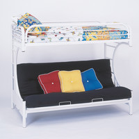 White Metal Twin / Futon Bunk Bed Only