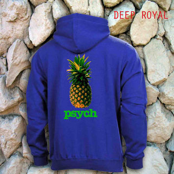 psych logo Deep Royal back men's S,M,L,XL,XXL, beautyful hoodie by : jozztshirt