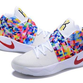 DCCK Nike Kyrie Irving 2 Rainbow/White Basketball Shoe