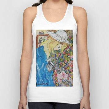 The Florist Unisex Tank Top by Darabem