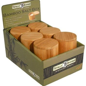 Totally Bamboo 20-2083 Round Salt Box with Magnetic Lid